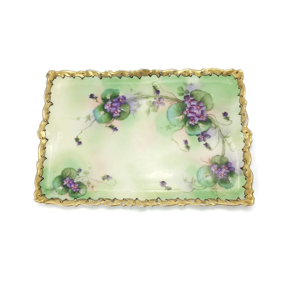Green/Purple Pansy Tray