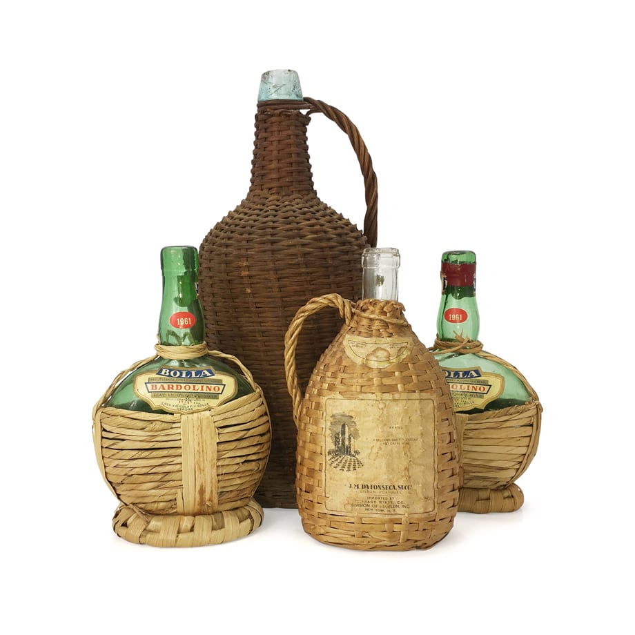 Wicker Covered Bottles