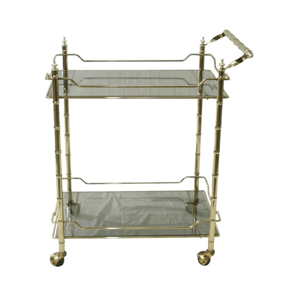 Square Brass Bar Cart