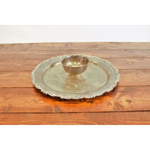 Patina Platter with Dip Bowl