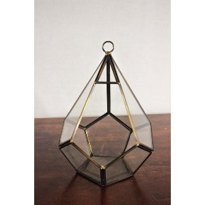 Bronze Geometric Lantern
