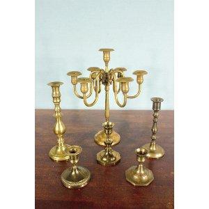 Brass Candelabra - 7 arm
