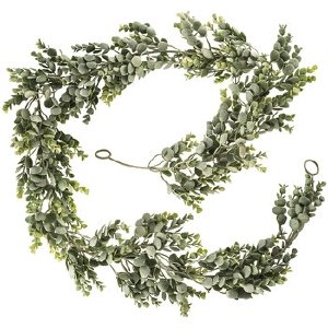 6' Frosted Eucalyptus Garland