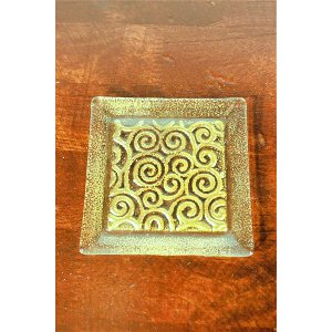 Glass Gold Coasters