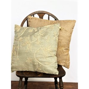 Blue/Tan Corded Pillow