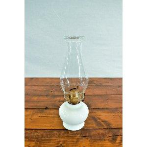 White Hurricane Lamp