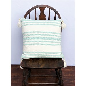 Turquoise Striped Pillow