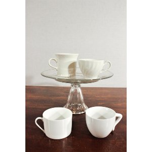 White/Cream Coffee Teacup