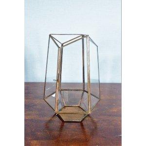 Copper Geometric Lantern - Large