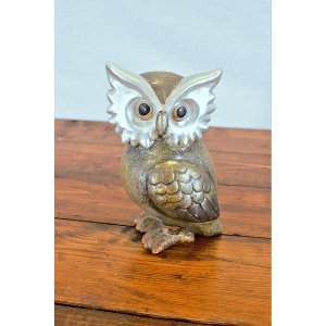 Ceramic Metallic Owl