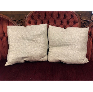 Cream and Silver Shimmer Pillow