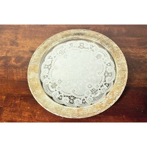 Gold Rim with Doily Center