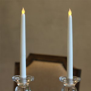 Battery Operated White Taper Candles