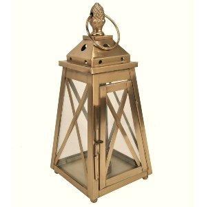 Gold Pineapple Top Lantern - Small