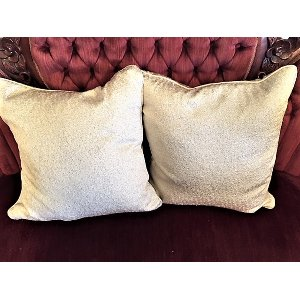 Cream Shimmer Square Pillow