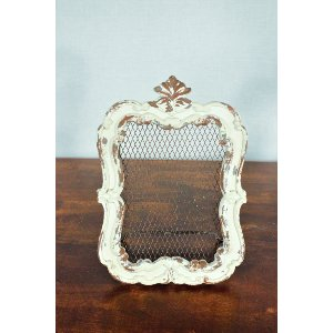White Chippy Frame with Wire