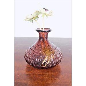 Purple Glass Bead Vase