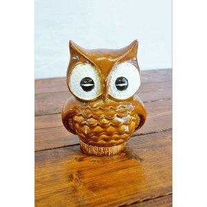 Brown Ceramic Owl