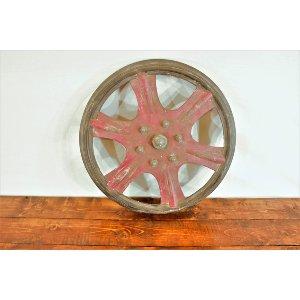 Red Metal Wheel Hub
