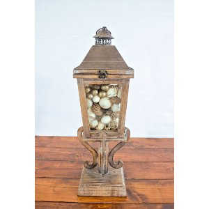 Glass and Wooden Lantern