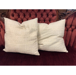 Cream and Gold Shimmer Pillow