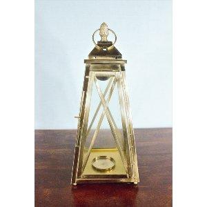 Gold Pineapple Top Lantern - Large