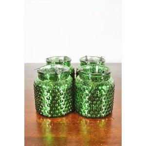 Green Shimmer Glass Votive