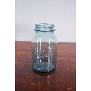 Blue Glass Mason Jar