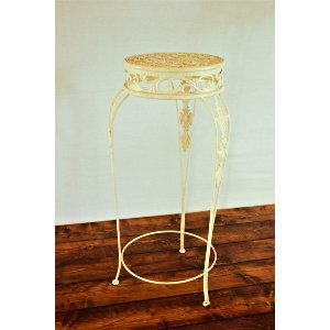 Ivory Metal Plant Stand