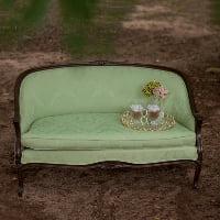 tea green sofas