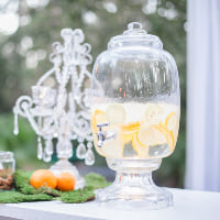glass beverage drink dispenser