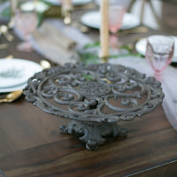wrought iron cake stands
