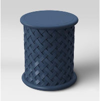navy lattice side table