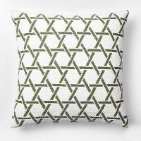 green lattice pillow
