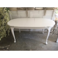 antique white french table