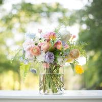 glass cylinder vase C