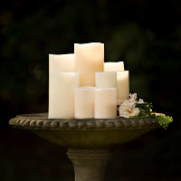 battery operated wax candles A