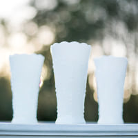 milk glass teardrop vase
