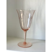 pink etched glass