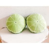 lime slice pillow