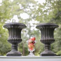 garden urn black
