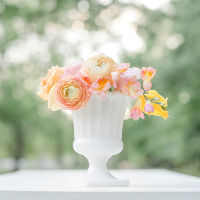 milk glass urn