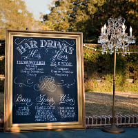 gold chalkboard large