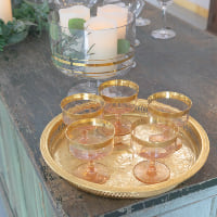 serving tray gold