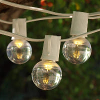 cafe string lights (white cord)