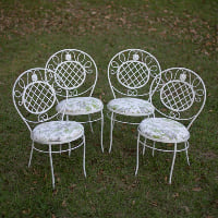 garden chairs floral