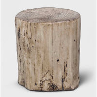 faux wood side table