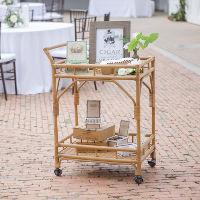 serving carts rattan