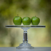 glass cake stand A