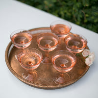 serving tray rose gold